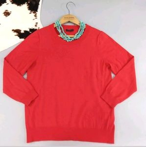 J Crew size large red Tippi sweater